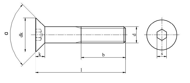 sklepneron > M10x30 Śruby imbusowe kl.10.9 DIN 7991 PG oc
